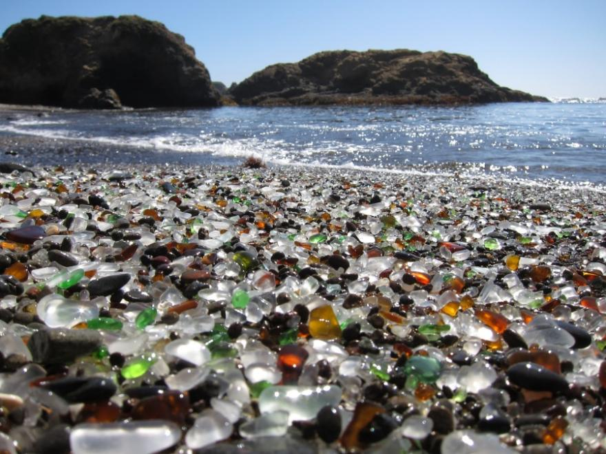 1-Unique Glass Beach in California
