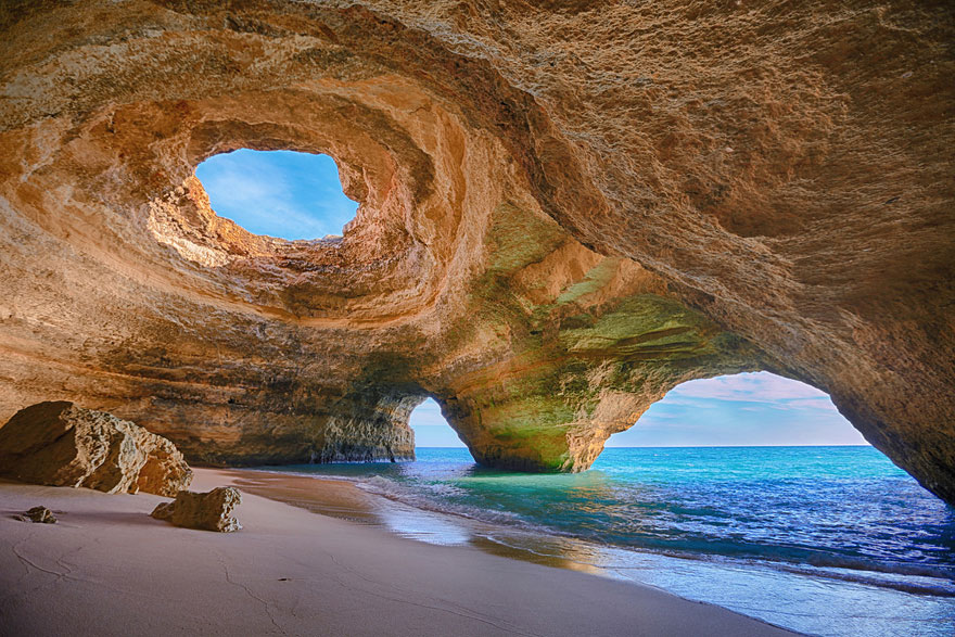 15-Cave Beach in Algarve, Portugal