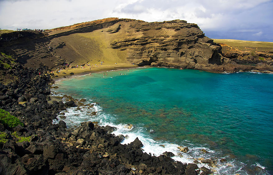 9-Papakōlea Green Sand Beach, Hawaii