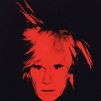 Andy Warhol - Self Portrait -Fright Wig-1986