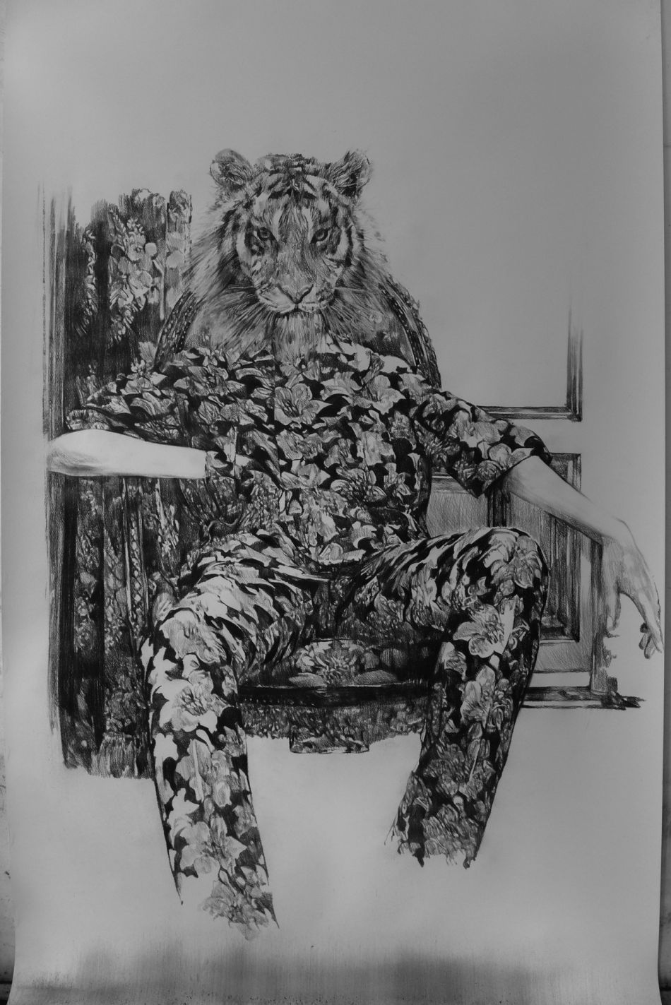 Anouk Griffioen - Charcoal Drawings - 9-256863