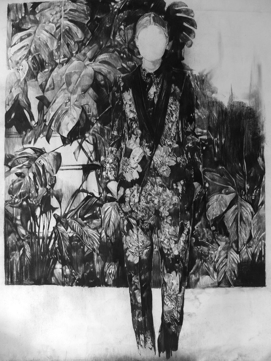Anouk Griffioen - Charcoal Drawings - 9-758469