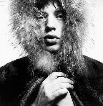 David Bailey - Mick Jagger Fur Hood 1964