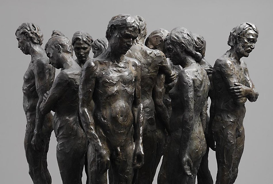 Kevin Francis Gray - Bronze Marble Sculpture - Twelve Chambers Maquette 23659