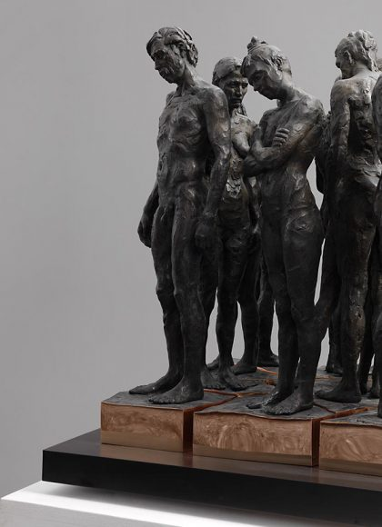 Kevin Francis Gray - Bronze Marble Sculpture - Twelve Chambers Maquette - Feature