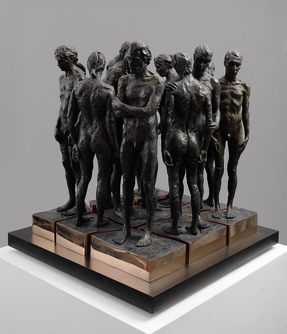 Kevin Francis Gray - Bronze Marble Sculpture - Twelve Chambers Maquette