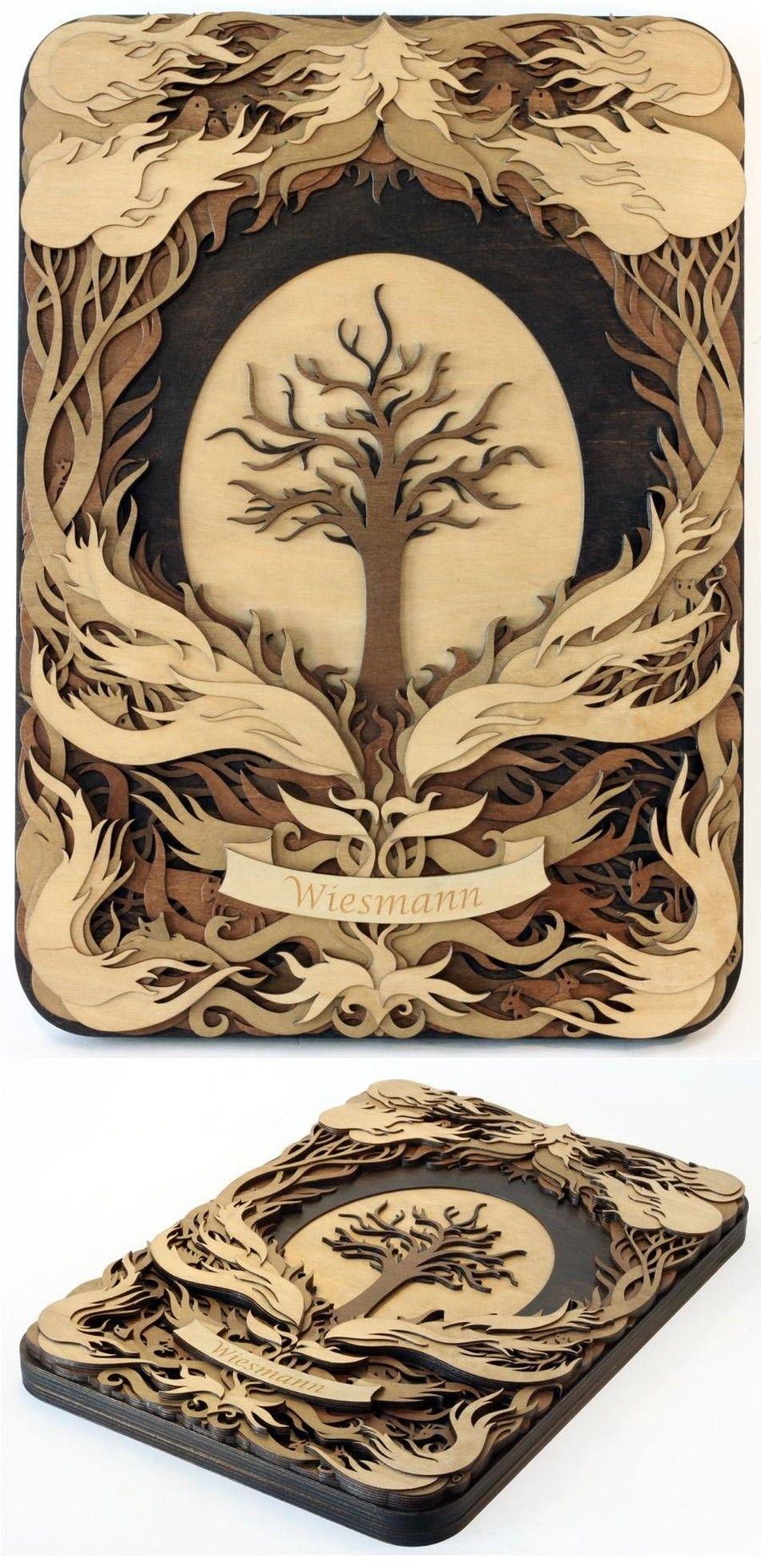 Martin Tomsky laser cut wood - custom_tree_of_life.