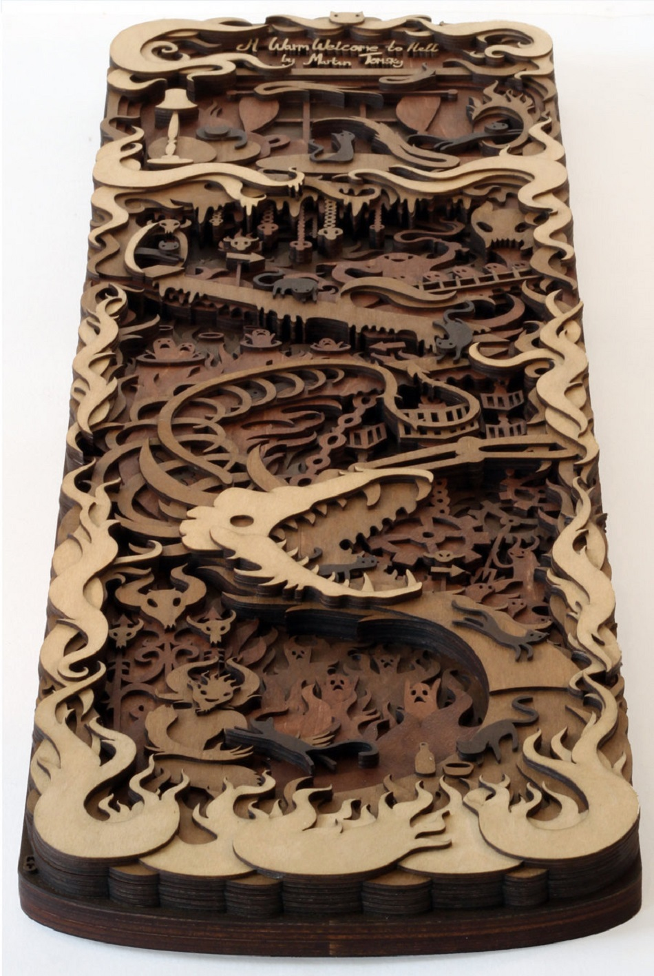 Martin Tomsky laser cut wood -warm-welcome - Feature