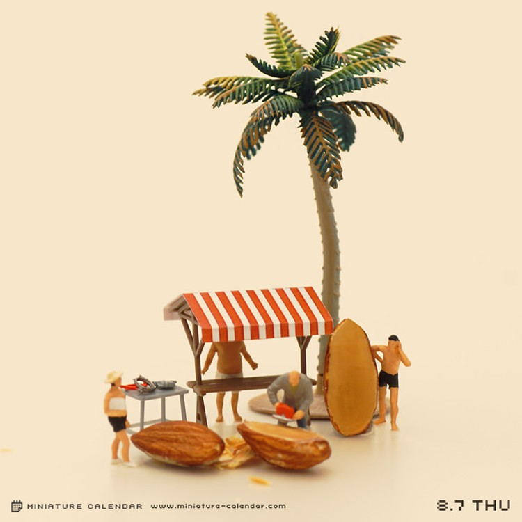Tanaka Tatsuya - miniature-calendar-dioramas 1-2659633