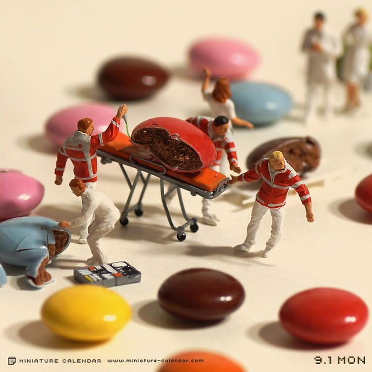 Tanaka Tatsuya - miniature-calendar-dioramas 1-986533