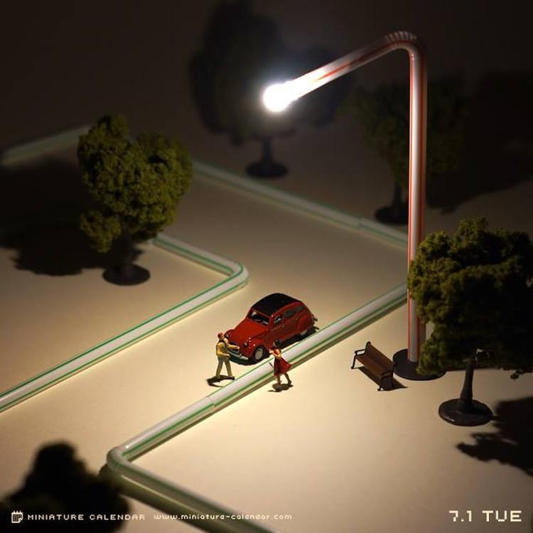 Tanaka Tatsuya - miniature-calendar-dioramas 2-86953