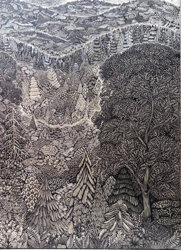Overlook Woodcut – Paul Roden And Valerie Lueth