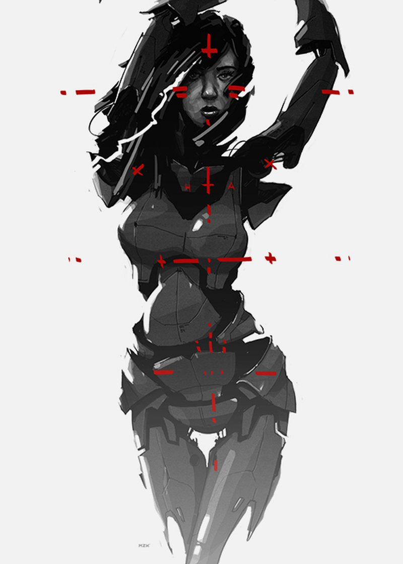 Kaloian Toshev-Girls-Drawings-Robo-girl