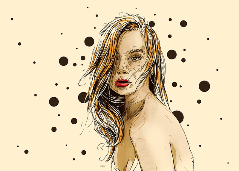 Kaloian Toshev-Girls-Drawings-Yellow-feelings