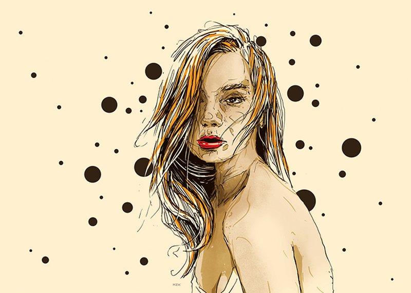 Kaloian Toshev-Girls-Drawings-Yellow-feelings