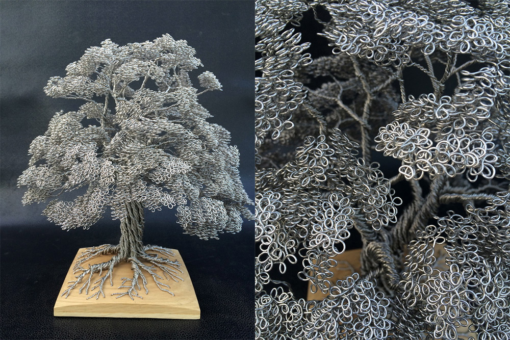 Wire Tree Sculptures Clive Maddison 86526