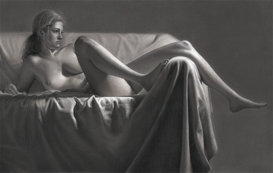 Dirk Dzimirsky-Paintings- Drawings-The Sofa