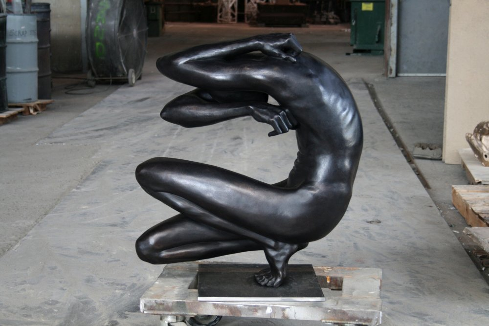 Emil Alzamora-Sculpture_Hone with foundry BG