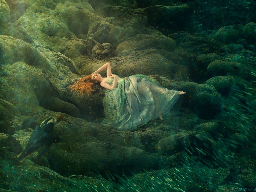 """Falling Deep"" from the Siren Songs Series Photographed in Icela"