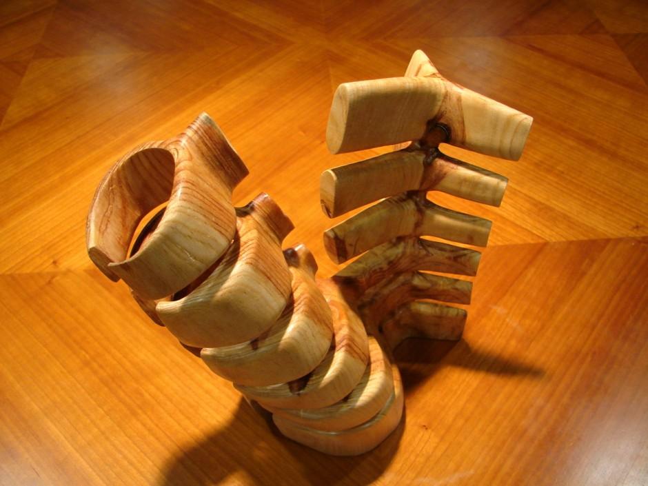 Xavier Puente Vilardell - Pine Wood Sculpture - 4558696