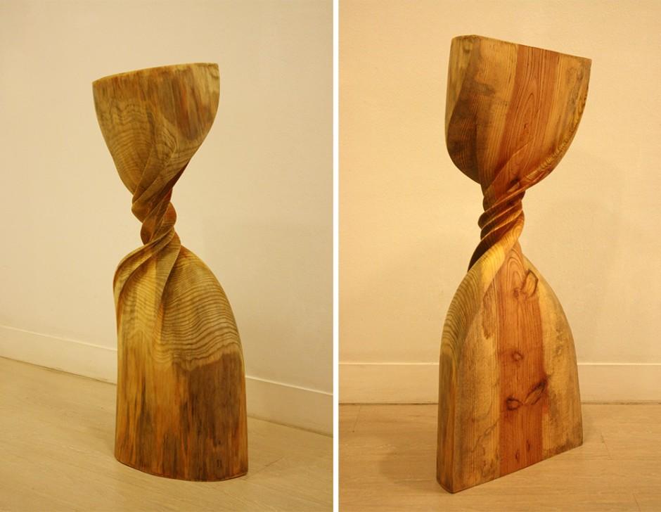 Xavier Puente Vilardell - Pine Wood Sculpture - 584769