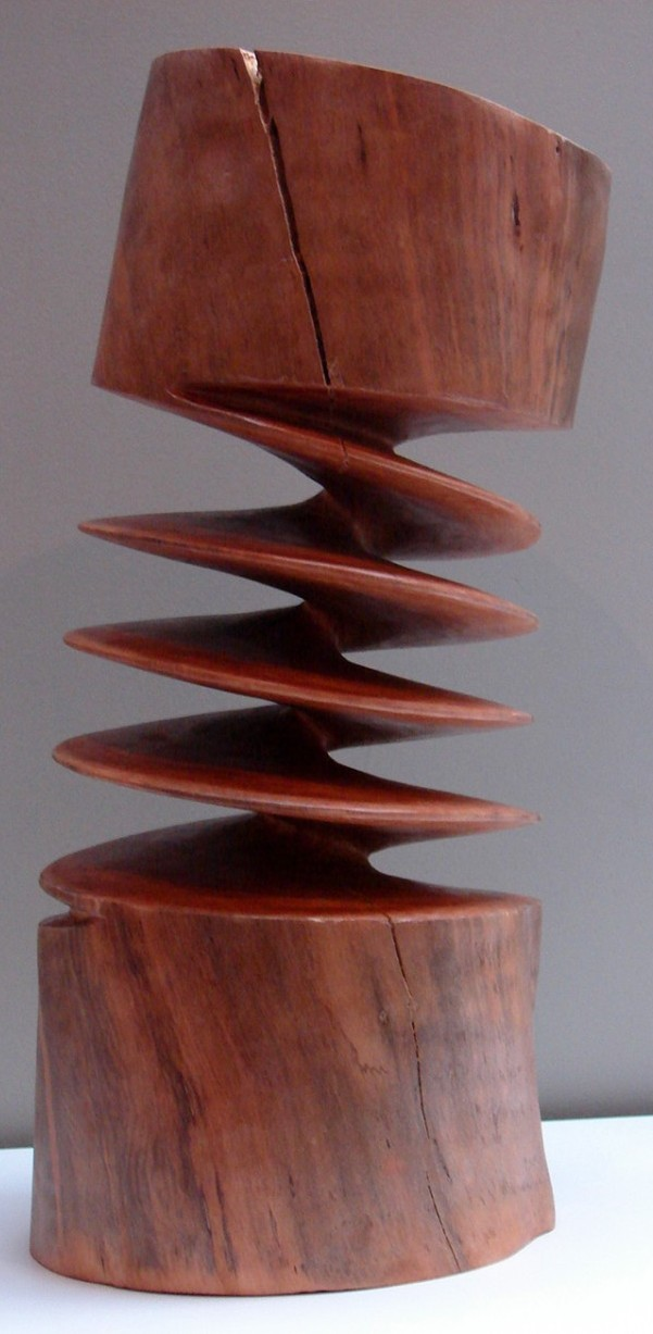Xavier Puente Vilardell Pine Wood Sculpture Feature