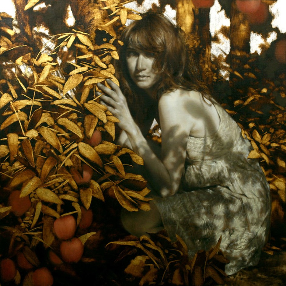 Oil Paintings Adorned With Gold And Silver By Brad Kunkle
