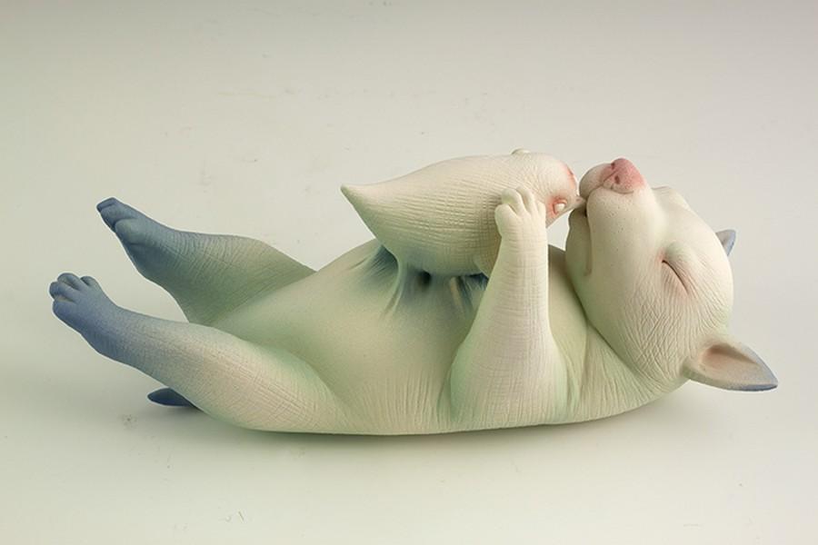 Odd Things The Ceramic Dog Sculptures Of Erika Sanada