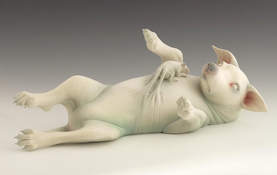Erika Sanada - Animal Ceramic Sculpture - Assimilation