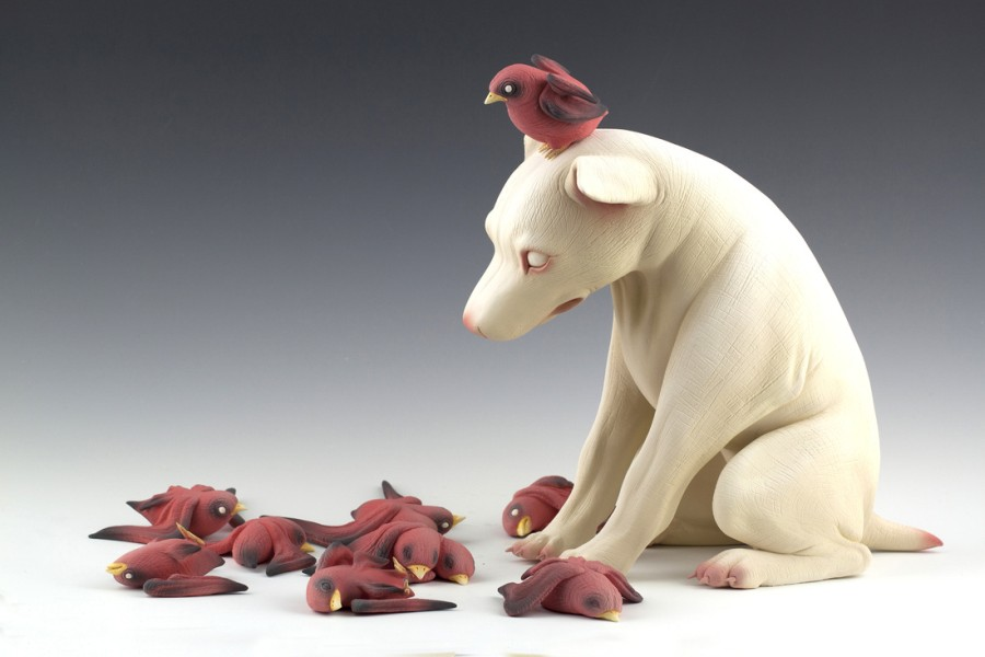 Erika Sanada - Animal Ceramic Sculpture - My Turn