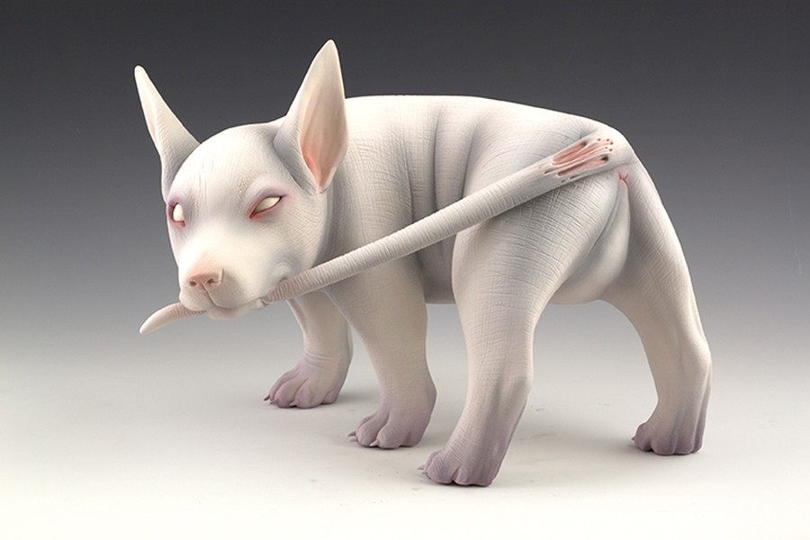 Erika Sanada - Animal Ceramic Sculpture - Tear Me Up