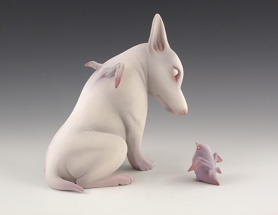 Erika Sanada - Animal Ceramic Sculpture - You Are One Of Us