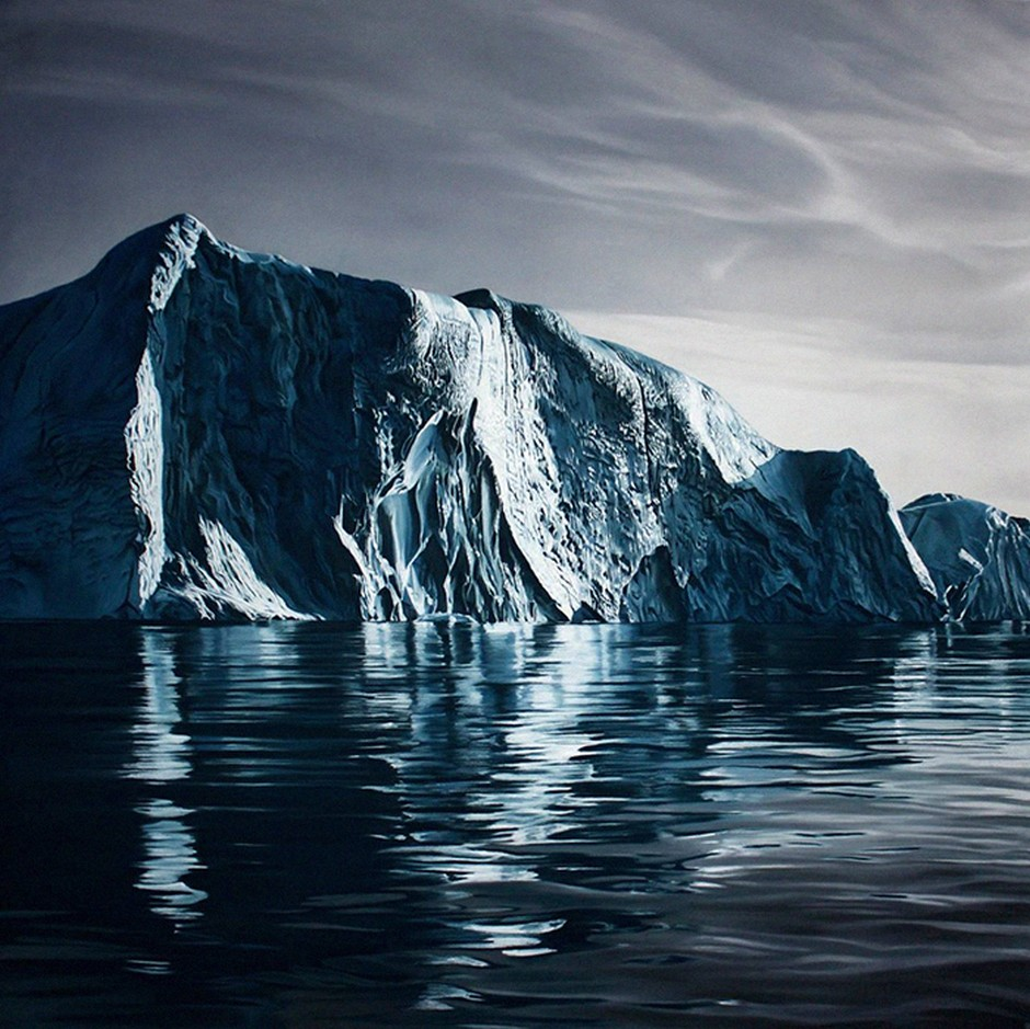 Zaria Forman Greenland Iceberg Pastel Drawing 86596
