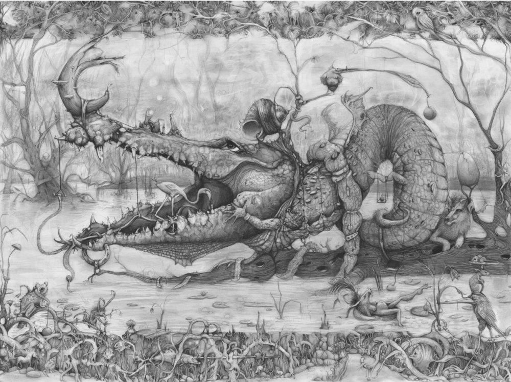 Adonna Khare-Drawings-alligator