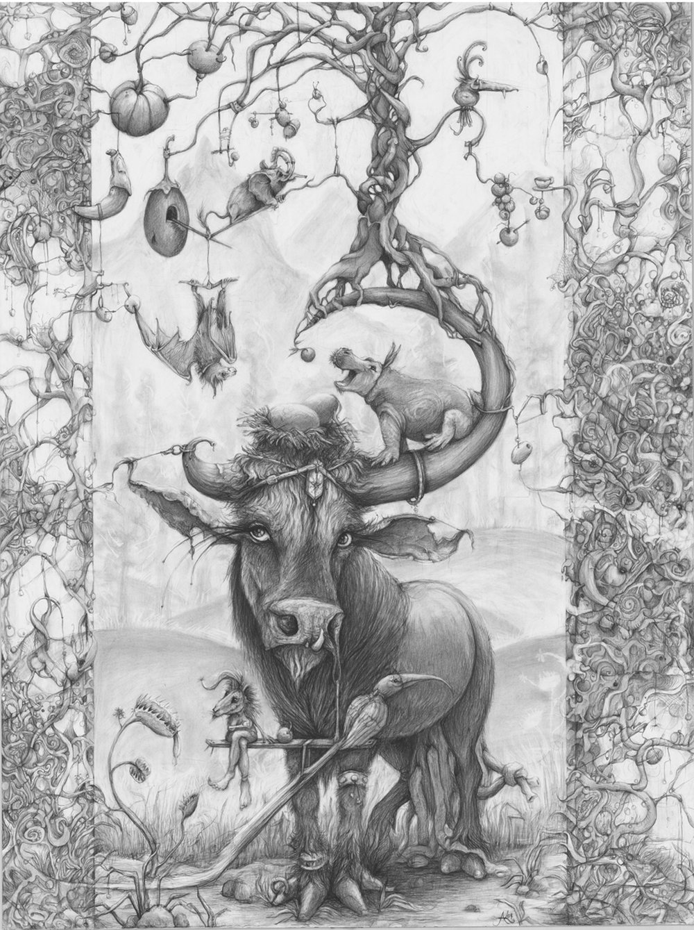 Adonna Khare-Drawings-bull