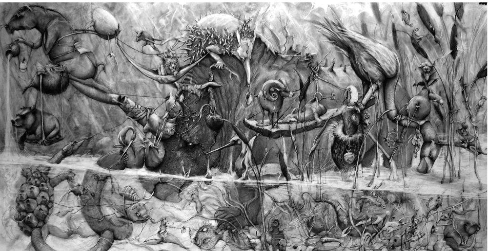 Adonna Khare-Drawings-rhino