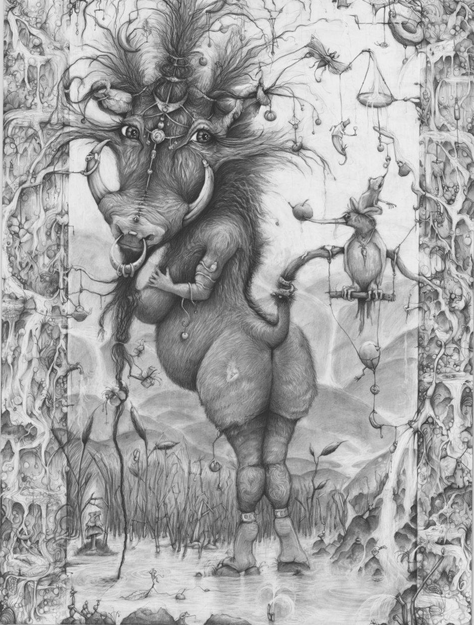 Adonna Khare-Drawings-warthog