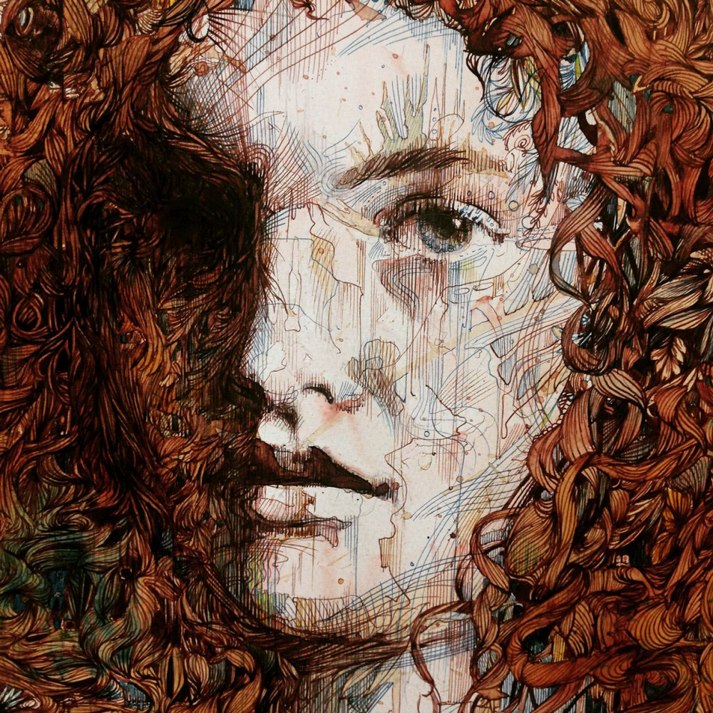 Carne Griffiths-Drawings-Tea-Ink-Portraits-94569