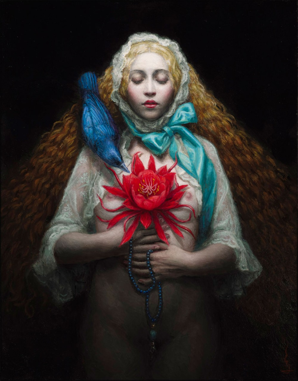 Chie Yoshii-Paintings-Flower-of-soul