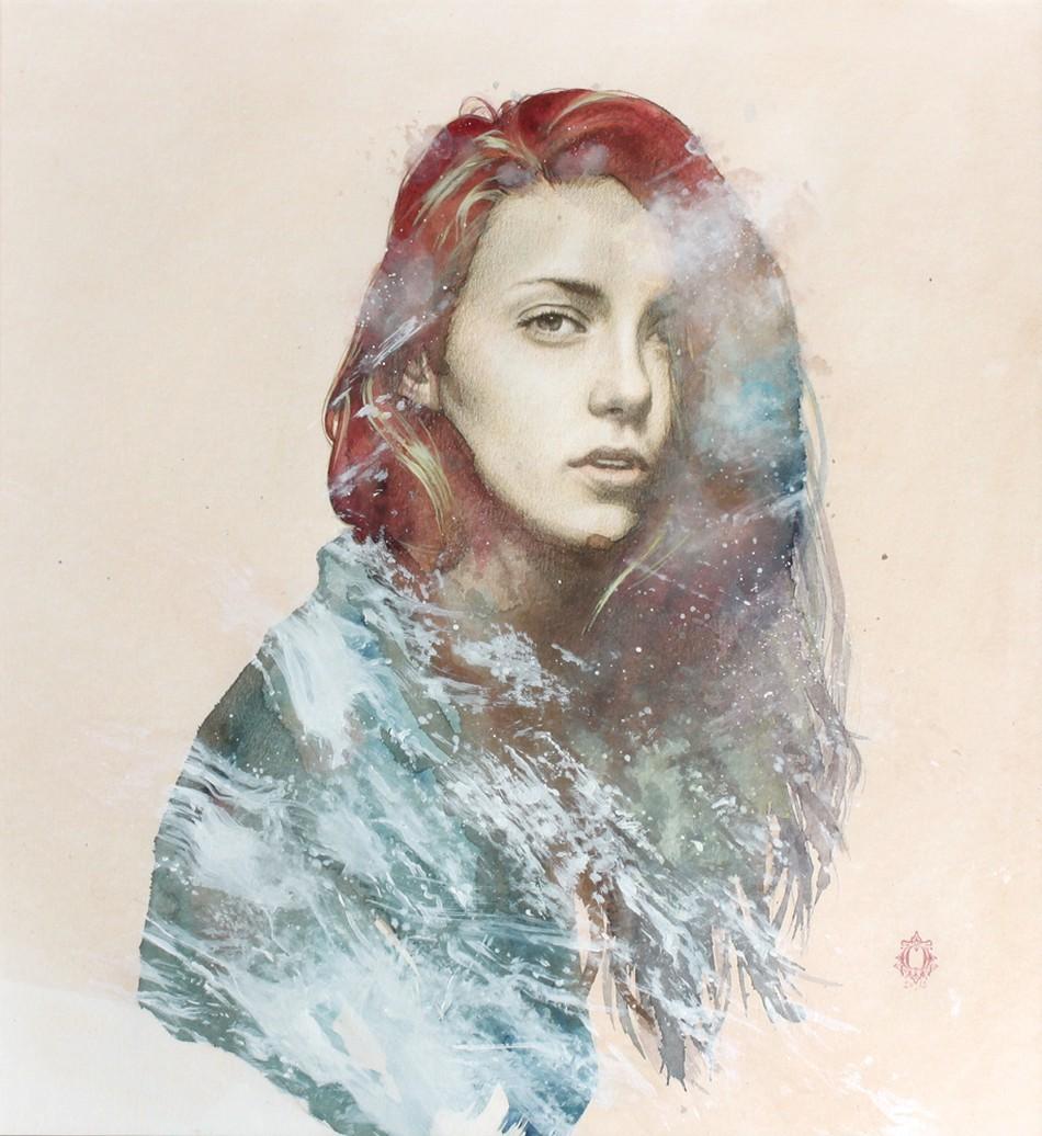 Oriol Angrill Jordà-Drawing-watercolor-magenta