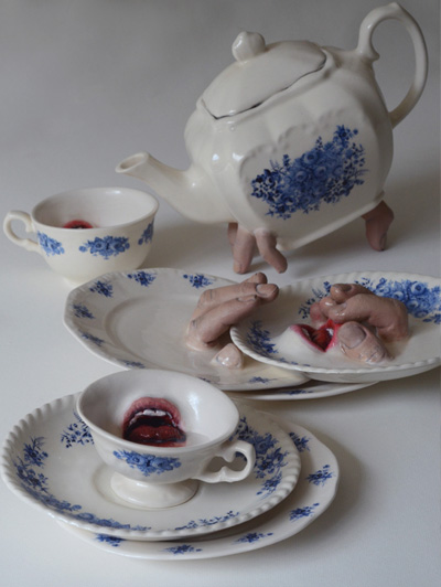 Strange Ceramic Tableware Sculptures By Ronit Baranga — Fascinating, Sensual And Nicely Done!
