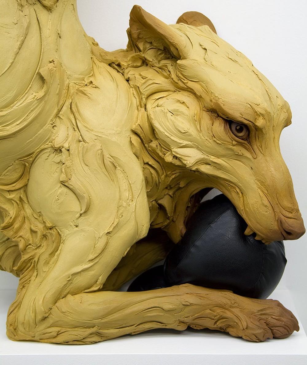 Beth Cavener Sculpture-Choleric-details