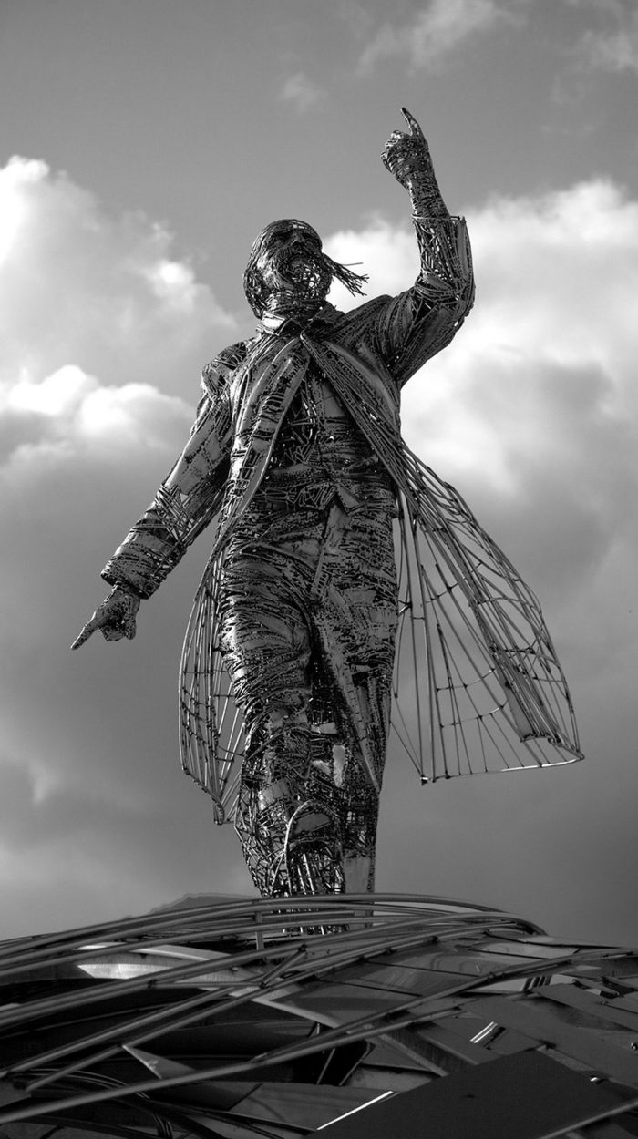 Human Sculptures By Jordi Diez Fernandez —  Elegantly Created Out Of Steel And Metal Scraps