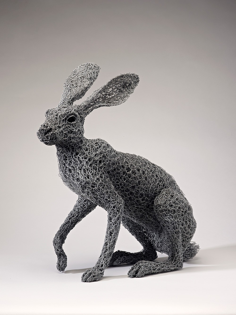 Kendra Haste Animal Wire Sculpture ARIZONA JACKRABBIT