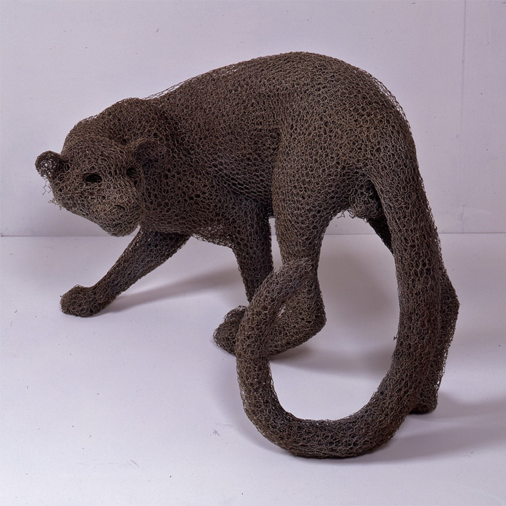 Kendra Haste Animal Wire Sculpture CLOUDED LEOPARD