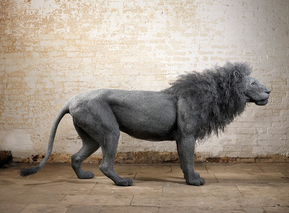 Kendra Haste Animal Wire Sculpture MALE LION