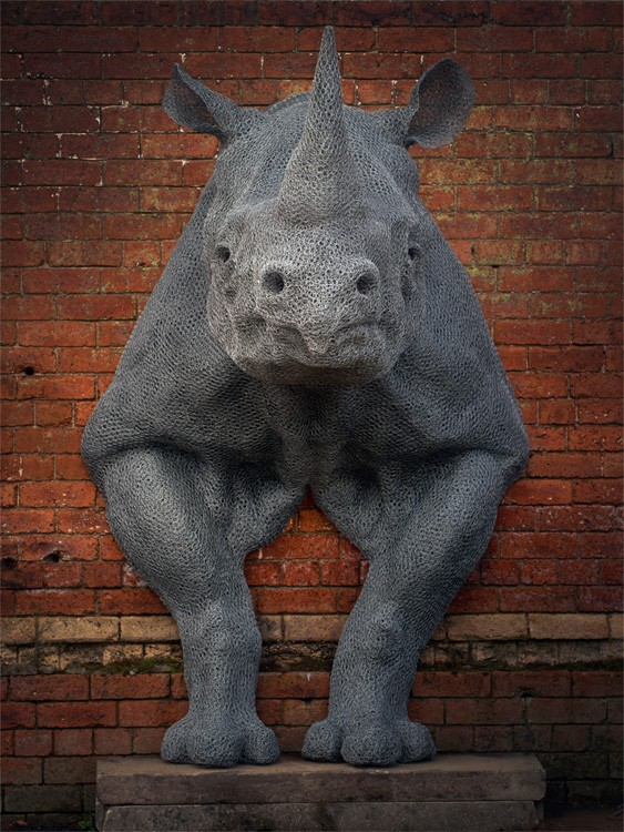 Kendra Haste Animal Wire Sculpture RHINOCEROS – Feature