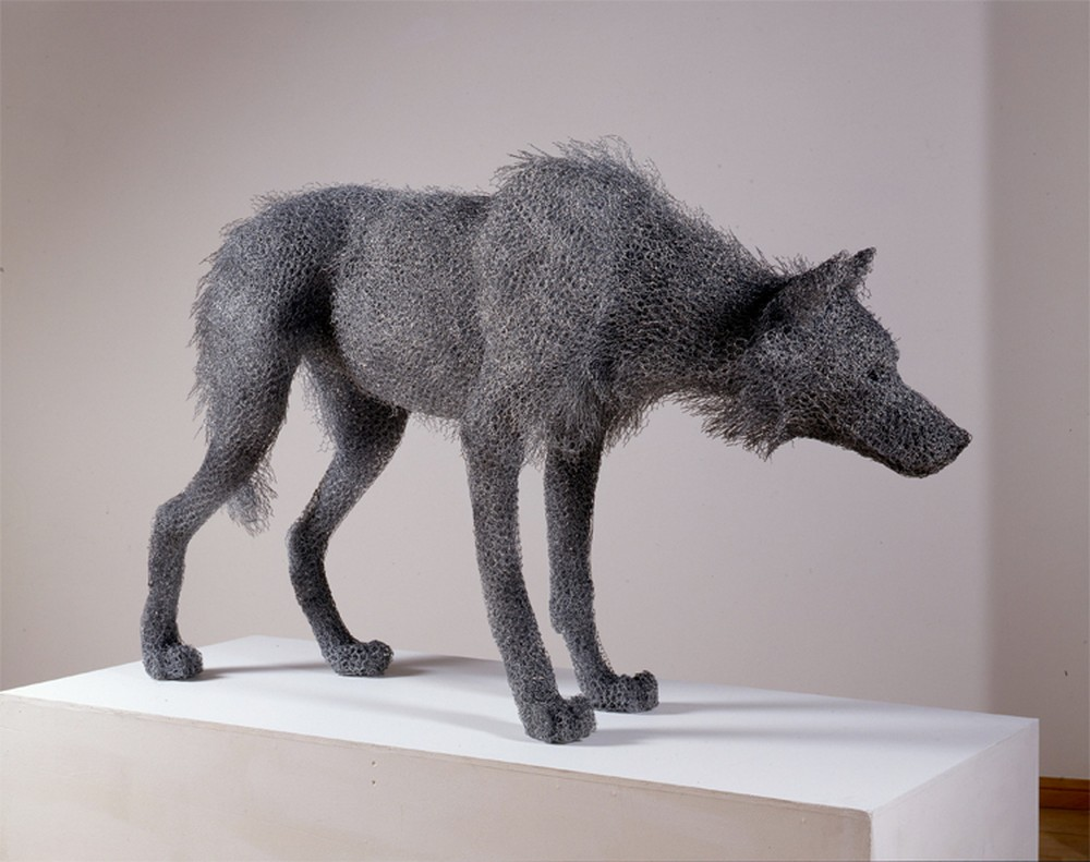 Kendra Haste Animal Wire Sculpture TIMBER WOLF