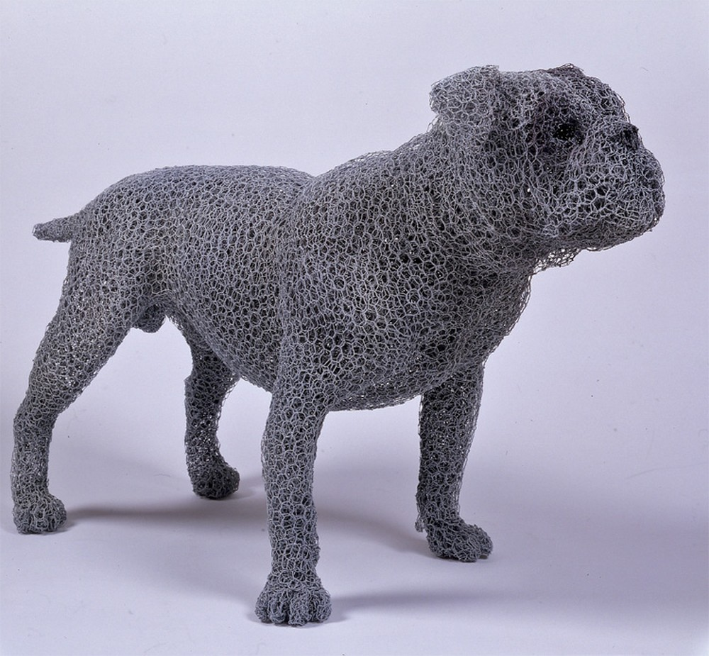 Kendra Haste Animal Wire Sculpture VICTORIAN BULLDOG