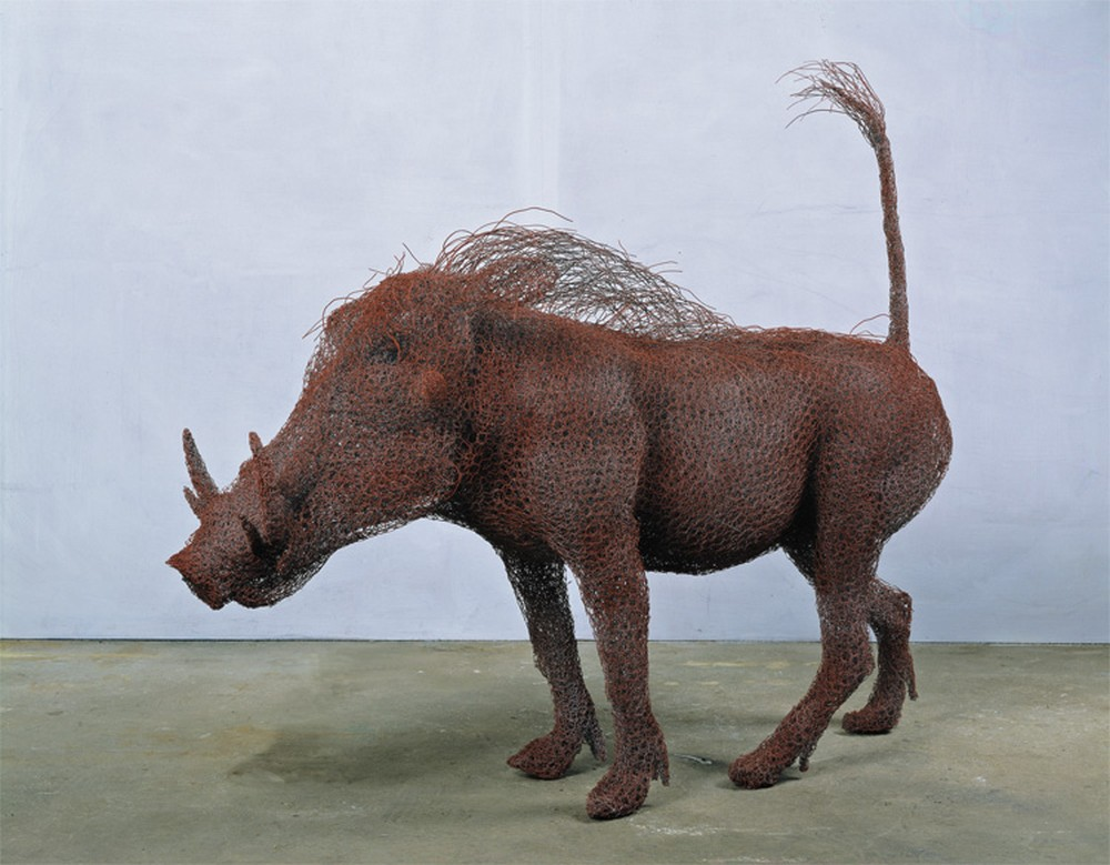 Kendra Haste Animal Wire Sculpture WARTHOG